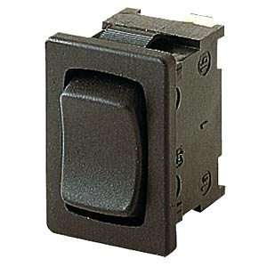 Rocker switch, 1-pin, UM, black MARQUARDT 01808.2102-00