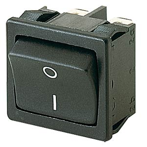 Rocker switch, 2-pin, OFF, black, I-O MARQUARDT 01802.1108-01