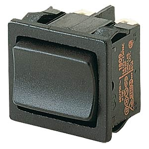 Rocker switch, 2-pin, UM, black MARQUARDT 01809.1102-00