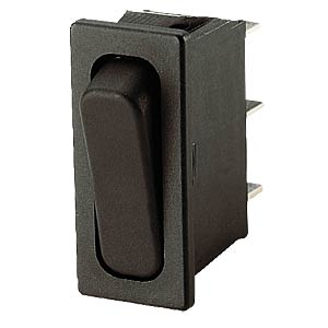 Rocker switch, 1-pin, UM, black MARQUARDT 01833.3302-00