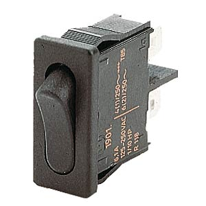 Rocker switch, 1-pin, OFF, black MARQUARDT 01901.1102-01