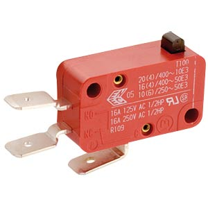 snap-action-switch, change over, 6 A-250 V AC, Faston MARQUARDT 01004.1002-02