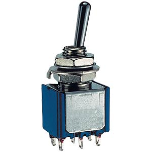 Toggle switch, 2-pin, 6 A - 125 V AC, on-off-on MIYAMA MS 500 H