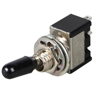 Toggle switch, 1-pin, 10 A - 125 V AC, on-on MIYAMA MS 166