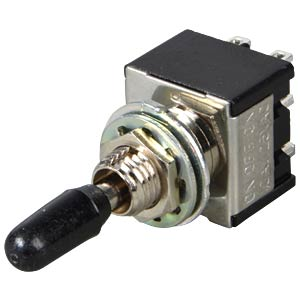 Toggle switch, 2-pin, 10 A - 125 V AC, on-off-on MIYAMA