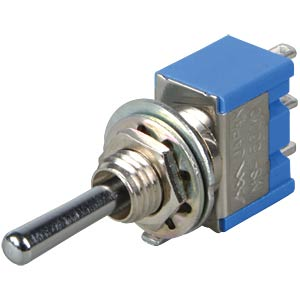 Toggle switch, 1-pin, 6 A - 125 V AC, on-off-on MIYAMA MS 500 C-B