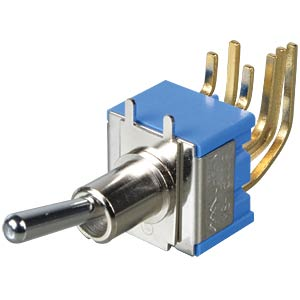 Toggle switch, 2-pin, 3 A - 250 V AC, on-on angled FREI