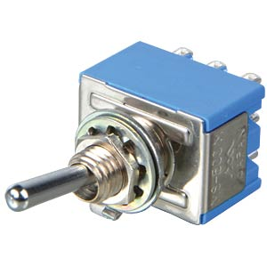 Toggle switch, 3-pin, 6 A - 125 V AC, on-off-on MIYAMA MS-500N-B