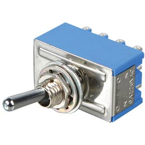 Toggle switch, 4-pin, 6 A - 125 V AC, on-on MIYAMA MS 500 P