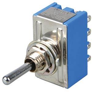 Toggle switch, 4-pin, 6 A - 125 V AC, on-off-on MIYAMA MS 500 R
