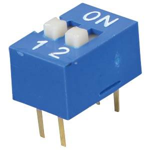 Dip switch, vertical, 2-pin FREI