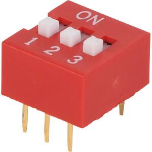 Dip switch, vertical, 3-pin FREI