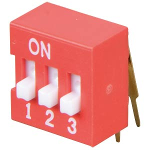 DIP switch, angled, 3-pin FREI