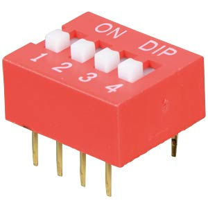 Dip switch, vertical, 4-pin FREI