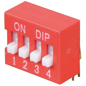 DIP switch, angled, 4-pin FREI