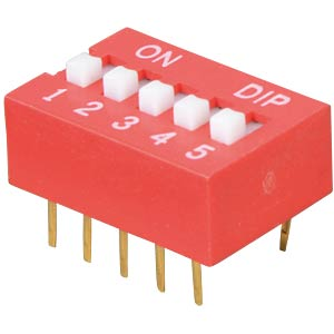 Dip switch, vertical, 5-pin FREI