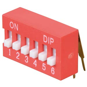 DIP switch, angled, 6-pin FREI