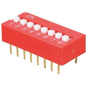 Dip switch, vertical, 8-pin FREI