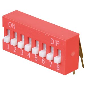 DIP switch, angled, 8-pin FREI