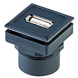 USB-Buchse auf Kabelstecker - Typ A, schwarz SCHLEGEL OKJ USB