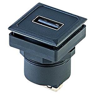 USB-Buchse auf USB-Buchse - Typ A, schwarz SCHLEGEL OKJ USB AA