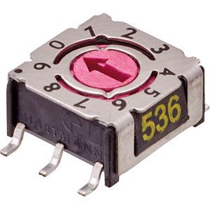Encoder switch — 16 Pos, SMD, Hexa HARTMANN 201001