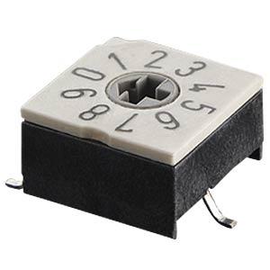 Codierschalter - 10 Pos, SMT 4+1, BCD HARTMANN 204012