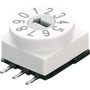 Encoder switch — 10 pos., SMD, BCD HARTMANN 203208