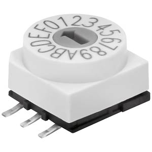 Encoder switch — 16 pos., SMD, Hexa HARTMANN 203210