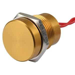 Piezotaster, Ø 18/16 mm, 1x Ein, Alu go APEM PBAR1AF5000