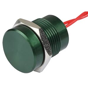 Piezotaster 16 mm - NO, Aluminium grün APEM PBAR1AF3000
