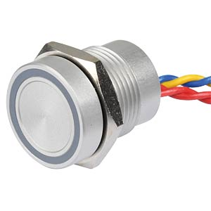 Piezo switch, 16 mm, NO, LED ring, 5 V, red APEM PBAR1AF0000A0S