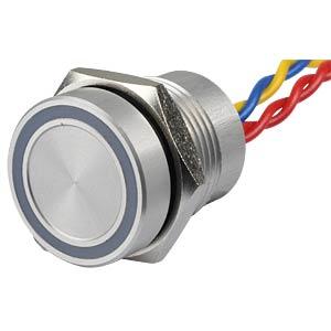 Piezotaster, Ø 18/16 mm, 1x Ein, LED-Ring 5V ws APEM PBAR1AF0000A0W