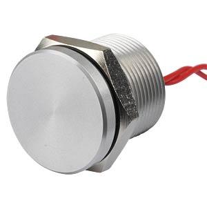 Piezotaster 19 mm - NO, Aluminium APEM PBAR9AF0000