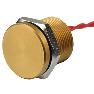 Piezotaster 19 mm - NO, Aluminium gold APEM PBAR9AF5000