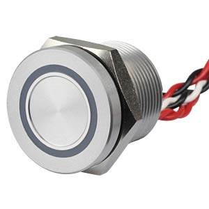 Piezotaster, Ø 22/19 mm, 1x Ein, LED-Ring 5V bl APEM PBAR9AF0000A0B