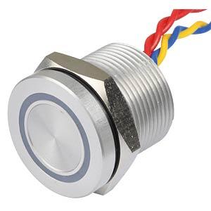 Piezotaster 19 mm - NO, LED-Ring 5 V gelb APEM PBAR9AF0000A0Y