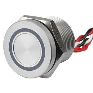 Piezotaster 19 mm - NO, LED-Ring 5 V rot APEM PBAR9AF0000A0S