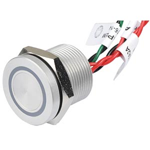 Piezotaster, Ø 22/19 mm, 1x Ein, LED-Ring 5V rt/gn APEM PBAR9AF0000A2A