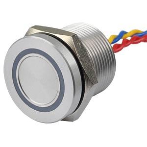 Piezotaster, Ø 22/19 mm, 1x Ein, LED-Ring 5V ws APEM PBAR9AF0000A0W