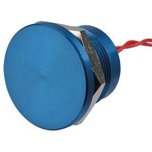 Piezotaster 22 mm - NO, Aluminium blau APEM PBAR2AF1000
