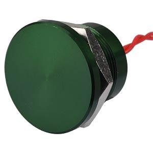 Piezotaster, Ø 28/22 mm, 1x Ein, Alu gn APEM PBAR2AF3000