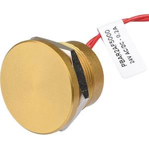 Piezotaster, Ø 28/22 mm, 1x Ein, Alu go APEM PBAR2AF5000
