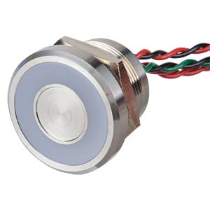 Piezo pushbutton 22 mm - NO, LED ring 12 V red/green APEM PBARZAFB000G2A