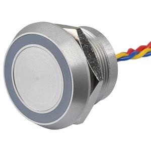 Piezotaster, Ø28/22mm, 1x Ein, LED-Ring 5V ge APEM PBARYAF0000C0Y