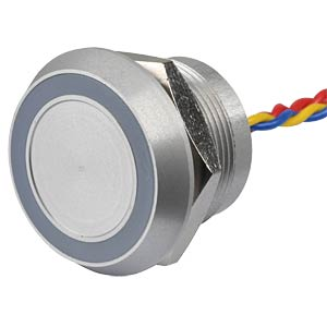 Piezotaster 22 mm - NO, LED-Ring 5 V grün APEM PBARYAF0000C0G