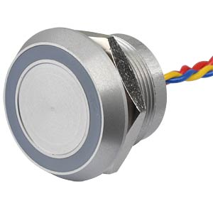 Piezotaster, Ø28/22mm, 1x Ein, LED-Ring 5V rt APEM PBARYAF0000C0S