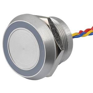 Piezotaster, Ø28/22mm, 1x Ein, LED-Ring 5V ws APEM PBARYAF0000C0W
