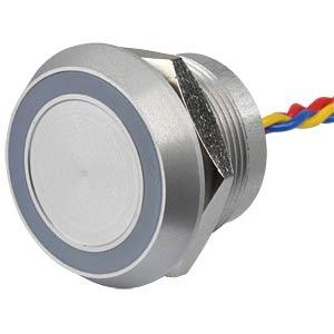 Piezotaster, Ø28/22mm, 1x Ein, LED-Ring 24V rt/gn/bl APEM PBARZAF0000C3A