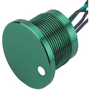 Piezo switch 28 mm, 1A/24VDC, spot white, green ONPOW PS223Z10YGR1W24D